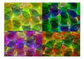 Holographic Abstract Leaf Backgrounds Vector