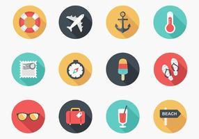Pacote de vetores de ícones de verão