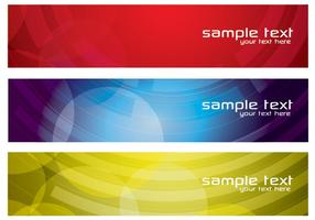 Vector de banners abstratos coloridos definido dois