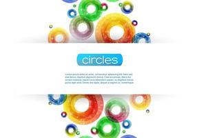 Vetor de fundo brilhante círculo