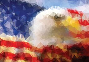 Vetor de fundo de bandeira americana poligonal águia