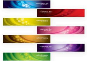 Conjunto de vetores modernos banners de dia dos namorados