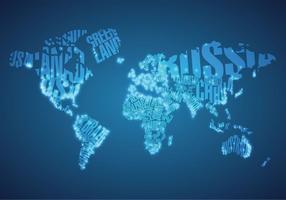 Luzes da cidade grande no vetor do mapa mundial