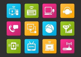 Conjunto de vetores de ícones de comunicação
