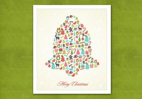Retro Christmas Bell Vector Background
