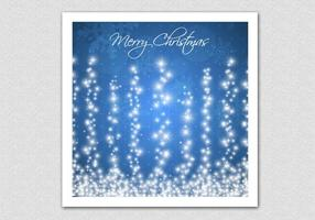 Blue Sparkling Merry Christmas Vector Background