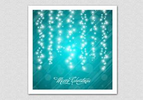 Teal Sparkling Chrismtas Vector Background