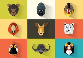 Pacote vetorial de retratos de animais