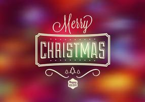 Bright Bokeh Christmas Vector