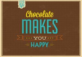 O chocolate faz você fundo do vetor feliz