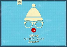 Hipster Rudolph Vector Background