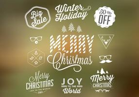 Christmas Badges and Elements Vector Set
