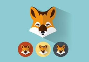Fox Portraits Vector Set