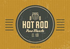 Fundo de vetor de hot rod vintage