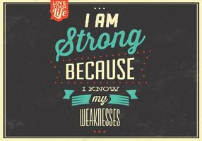 I am Strong Vector Background
