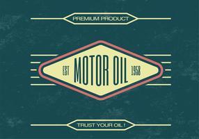 Fundo de vetor de óleo de motor vintage