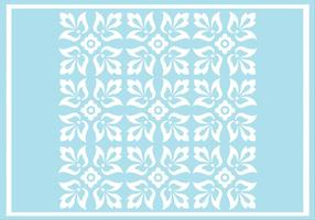 Blue Floral Ornament Vector Pattern