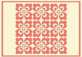padrão de vetor de ornamento de coral