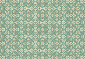Teste padrão floral azul do vetor