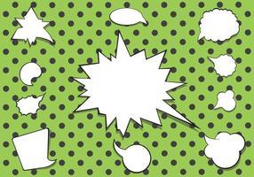 Pacote de vetores de bolha do discurso em quadrinhos