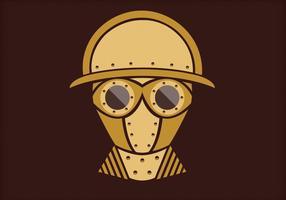 Steampunk vetor retrato três