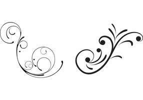 Vetores Swirly Swirls florais grátis