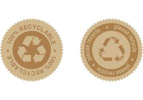 Vetores de etiqueta de reciclagem grátis