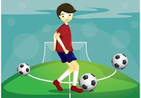 Jogador de vetor de futebol