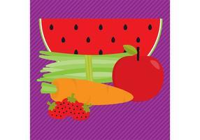 Vetores de alimentos orgânicos