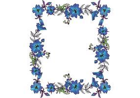 Quadro floral de vetor livre