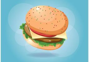 Comida do vetor do hamburguer