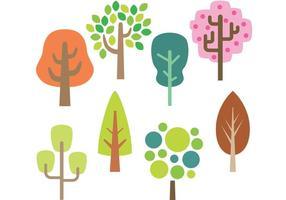 Vetores de árvore estilizados
