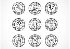 Selos de borracha de dias especiais gratuitos do vetor