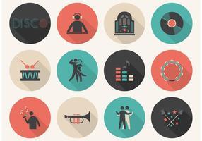 Conjunto grátis de ícones de vetor de música plana