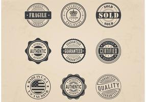 Jogo de emblemas de selos comerciais comerciais grátis vetor