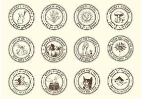 Selos de borracha gratuitos para ocasiões de vetor