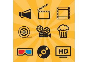 Ícones do vetor do filme