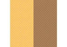 Texturas de waffle vetor
