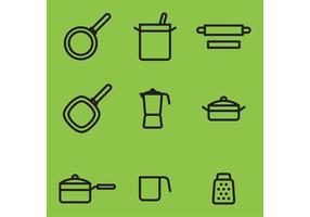Itens do vetor de cozinha