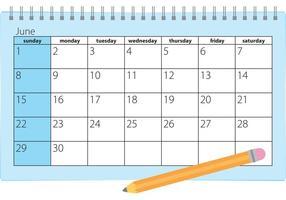 Vetor de calendário