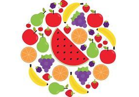 Pacote de vetores de frutas