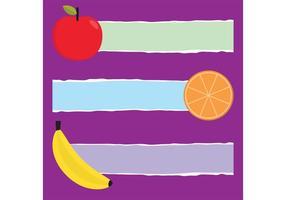 Bandeiras de vetores de frutas