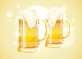 Vetor de cerveja de vidro