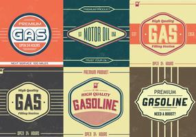 Pacote vetorial do Vintage Gasoline Sign Vector