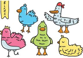 Pacote de vetores de pássaros fofos
