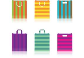 Vetores de saco de papel colorido