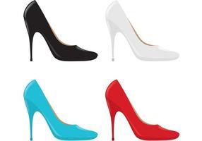 Vetores de sapato feminino