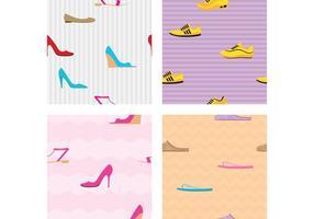 Padrões de vetores de sapatos