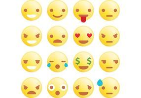 Vetores de emoticons arredondados