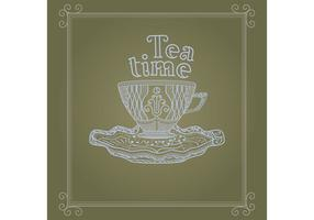 Vintage Cup Background Vector